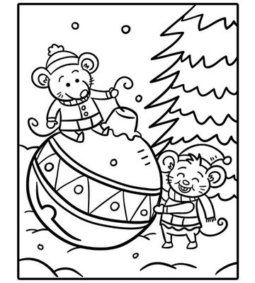 360x400 Printable Christmas Coloring Pages
