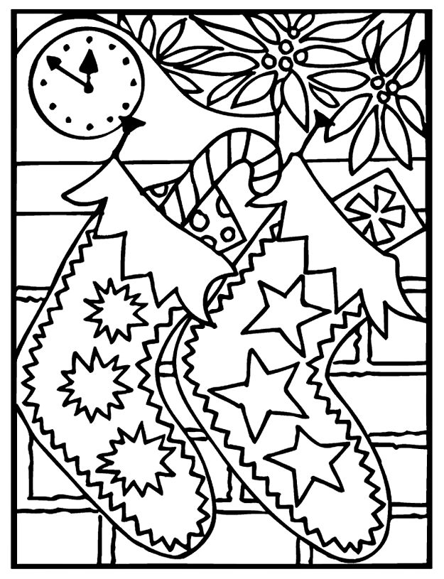 625x815 Best Color Christmas Images On Coloring Pages