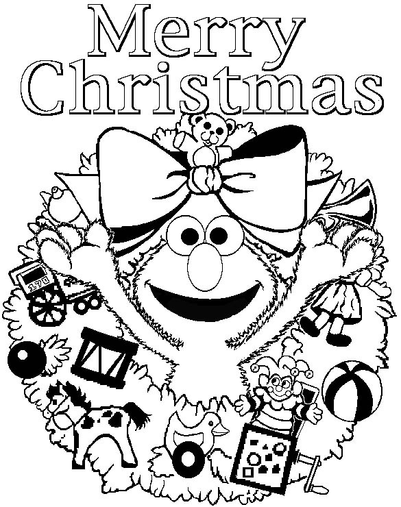 585x740 Printable Christmas Coloring Pages