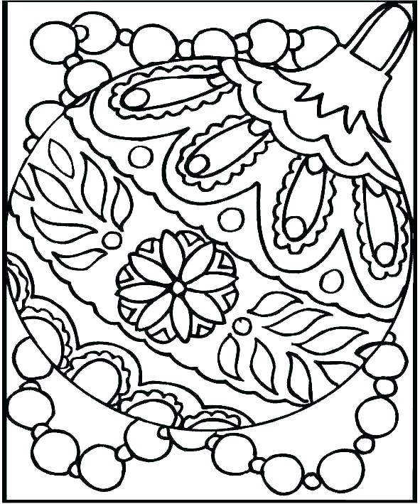 591x709 Printable Christmas Coloring Pages