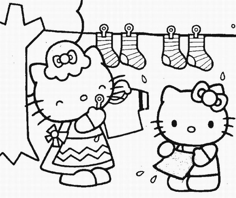789x662 Free Printable Hello Kitty Coloring Pages For Kids