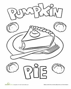 Coloring Pages Pumpkin Pie