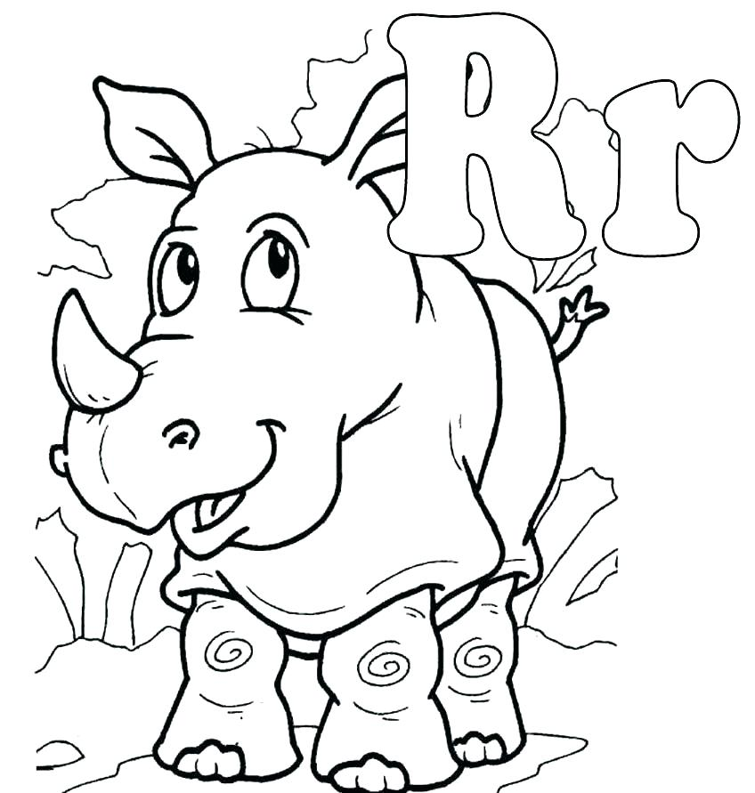 848x891 Letter A Coloring Pages For Toddlers Letter R Coloring Page