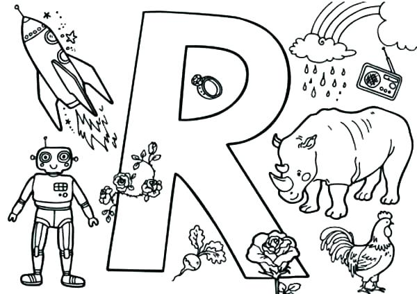 600x424 Letter R Coloring Page Letter R Coloring Page Epic R Coloring Page