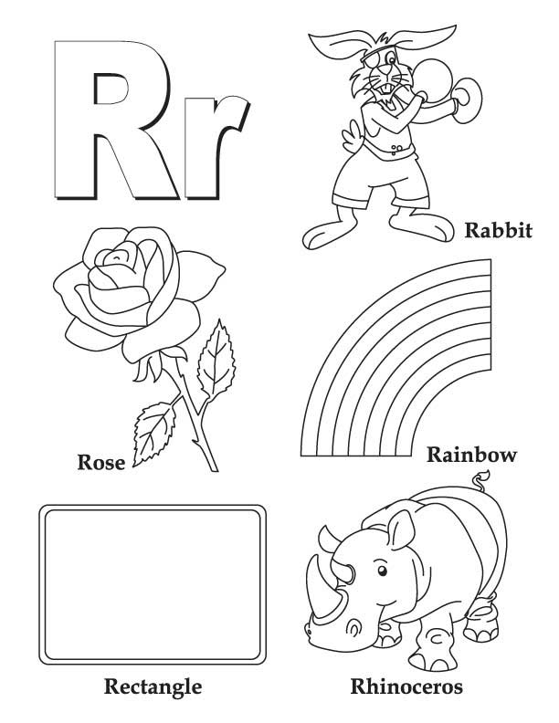 612x792 Letter R Coloring Pages