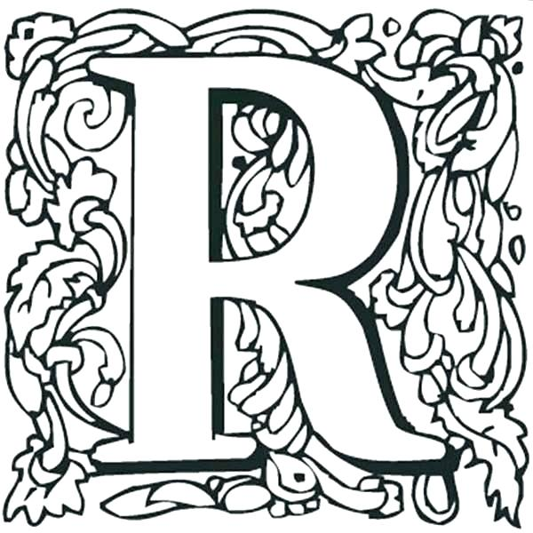 600x600 Letter R Coloring Pages Interesting Decoration Letter R Coloring