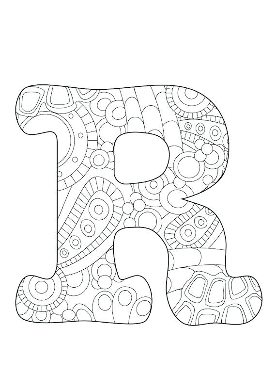 570x806 Letter R Coloring Sheet Letter R Funky