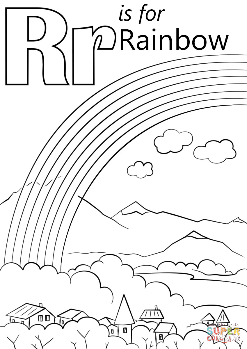 849x1200 Letter R Is For Rainbow Coloring Page Free Printable Pages Bright