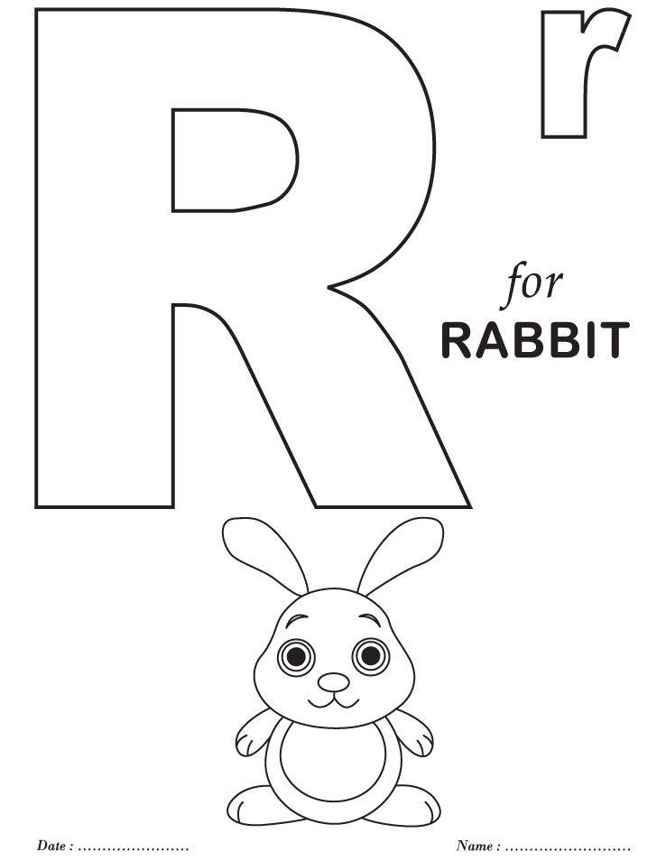 738x954 Printables Alphabet R Coloring Sheets Abc Worksheets