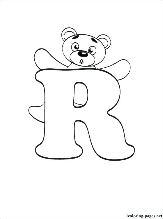 560x750 R Coloring Page Letter R Coloring Page Coloring Pages For Kids