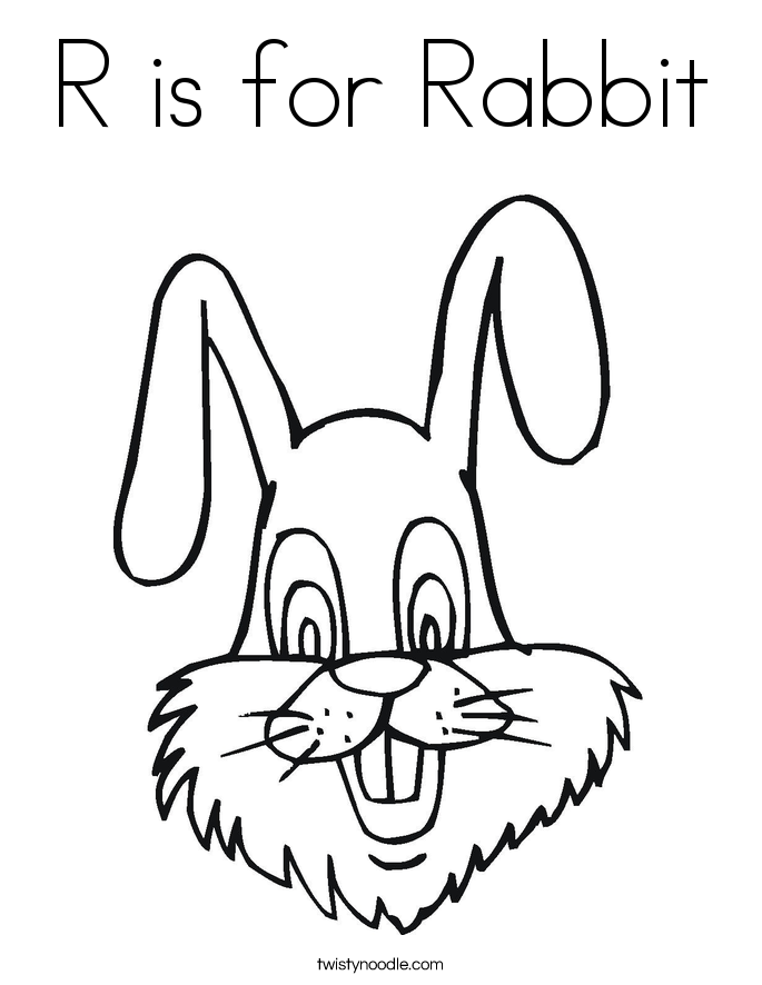 685x886 R Is For Rabbit Coloring Page