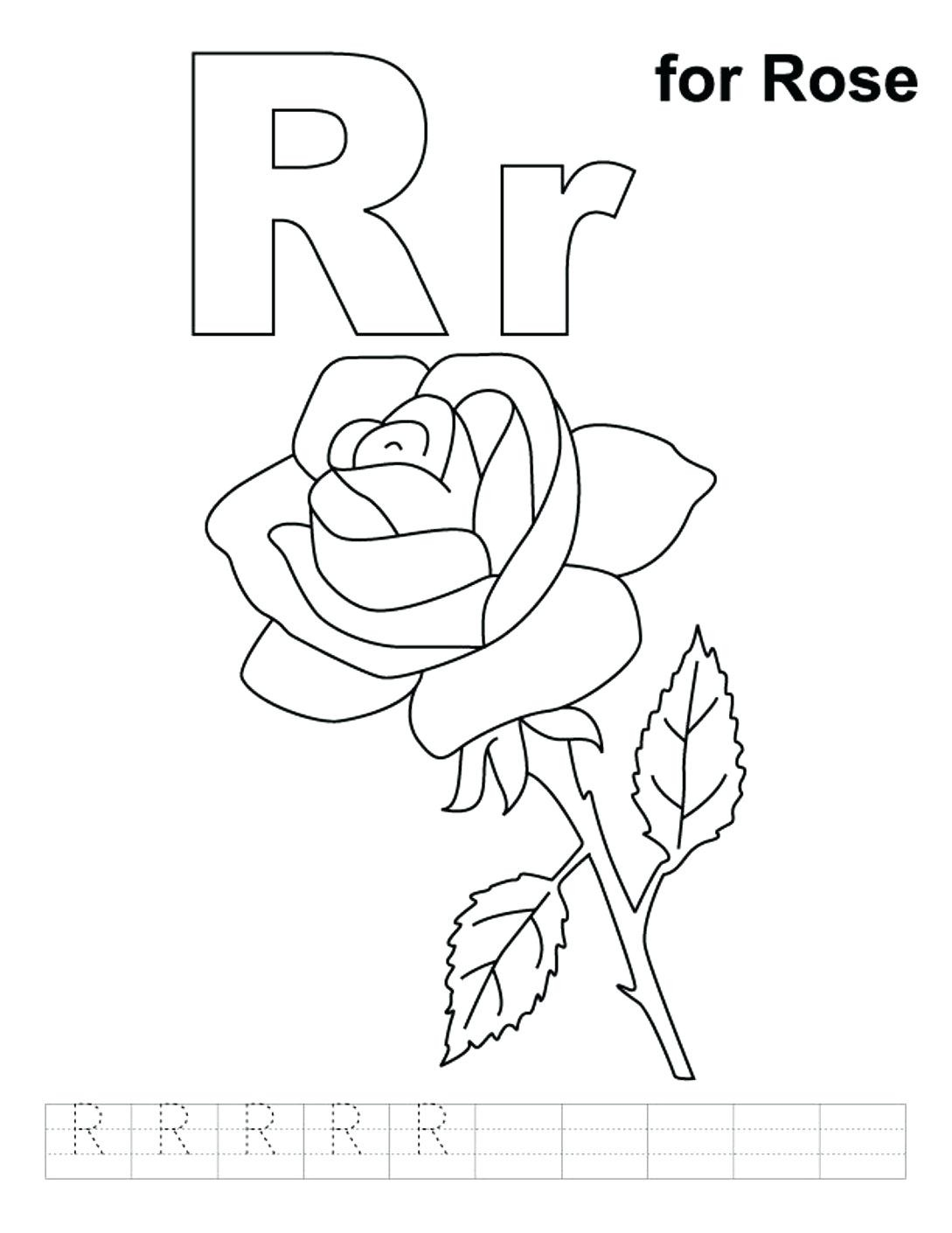 1089x1410 Christian Alphabet Coloring Pages Copy Lowercase R Free Alphabet
