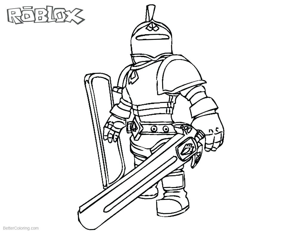 Coloring Pages Roblox At Getdrawings Free Download