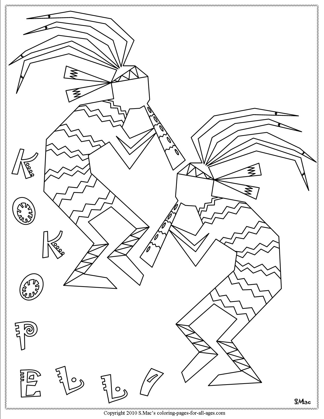 1275x1650 Kokopelli Coloring Pages S Mac's Place To Be