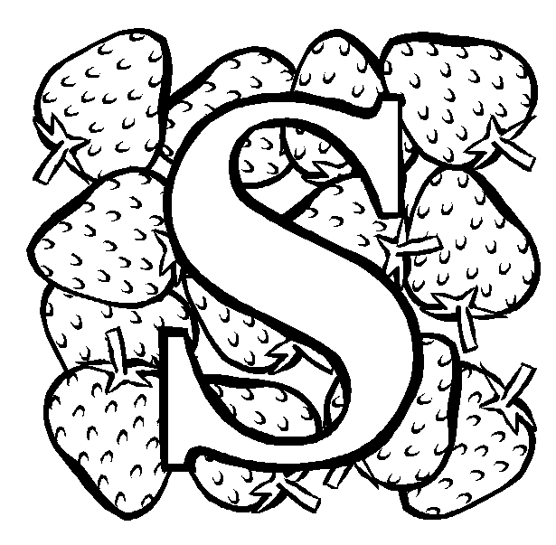 615x603 S Coloring Page Coloring Pages