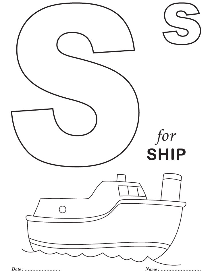 738x954 S Coloring Pages Printables Alphabet S Coloring Sheets Download