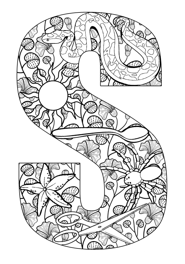 640x912 S Coloring Pages Things That Start With S Free Printable Coloring