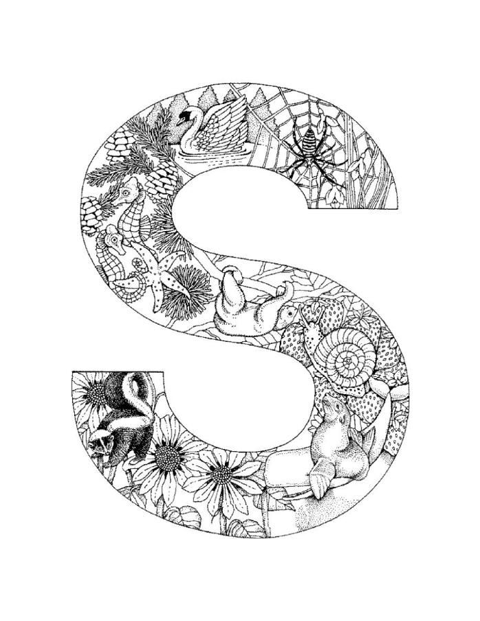 698x903 S Coloring Pictures Letter S Coloring Pages For Adults Coloring
