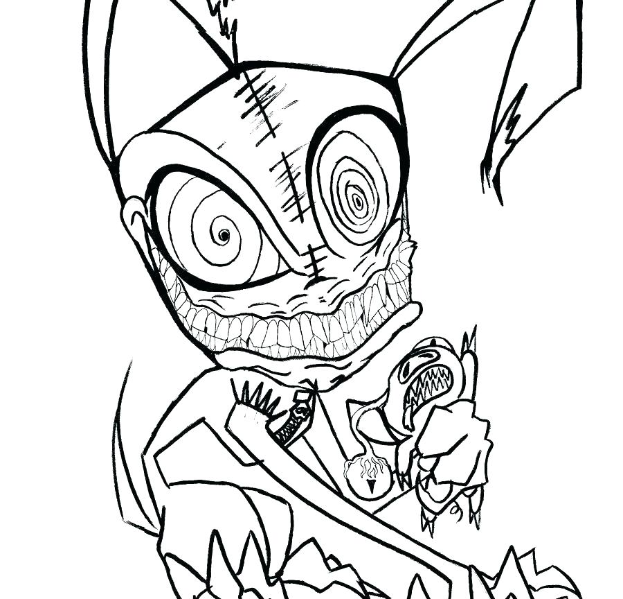 900x864 Creepy Coloring Pages