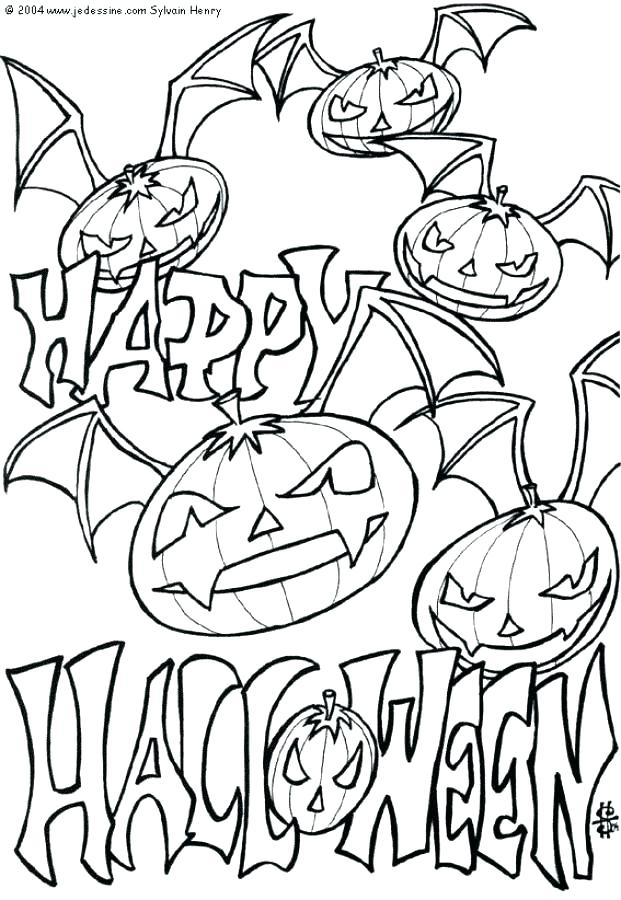 621x900 Creepy Halloween Coloring Pages Scary Coloring Pages Free