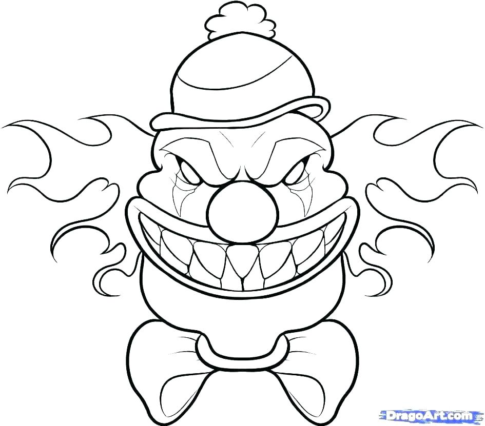 945x831 Scary Monster Coloring Pages Scary Drawings Easy Scary Dragon