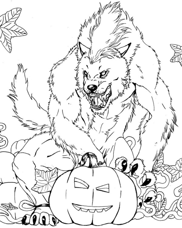 600x752 Free Scary Halloween Coloring Pages Trend Scary Halloween Coloring