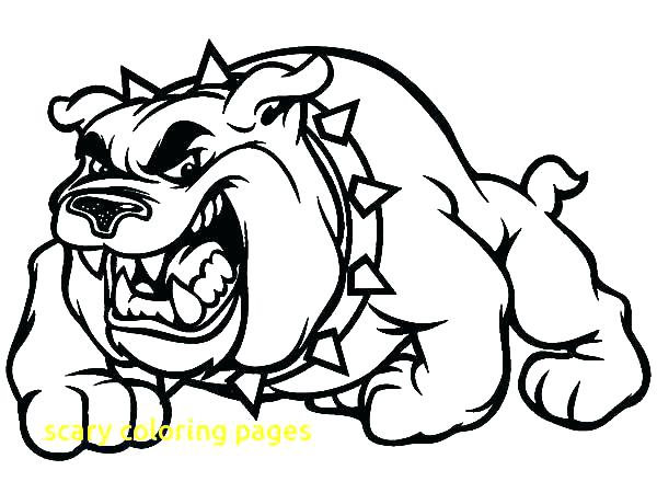 600x450 Scary Pumpkin Coloring Pages