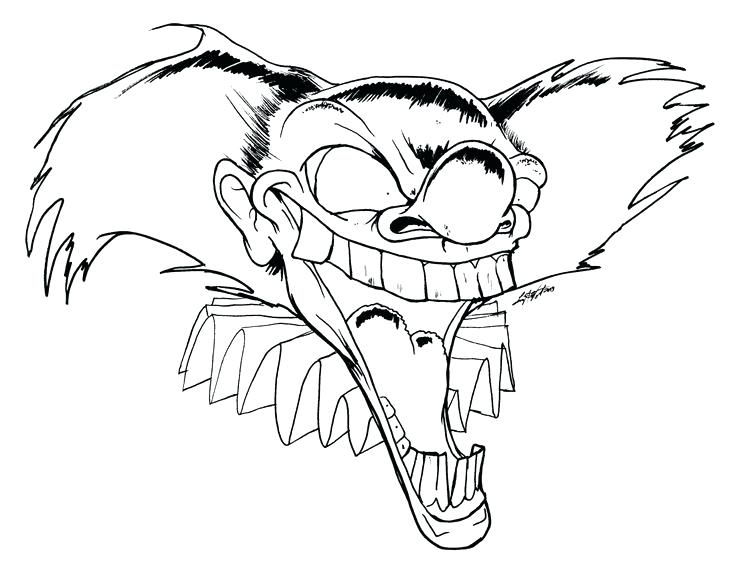 736x568 Coloring Pages Of Scary Clowns Scary Clown Coloring Pages Scary