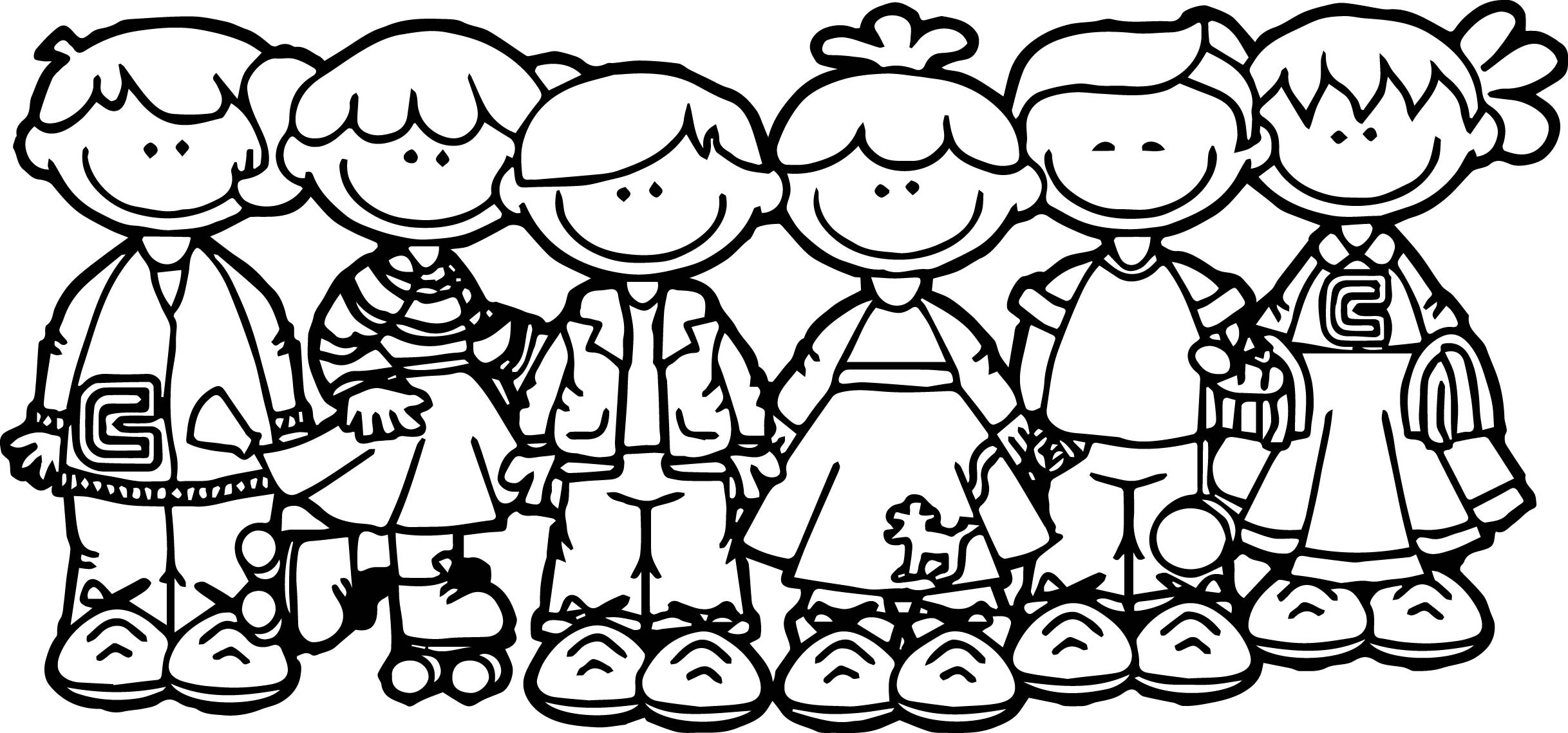 Coloring Pages School Children