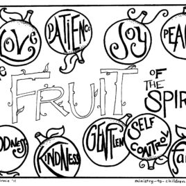 268x268 Free Sunday School Coloring Pages For Kids Give The Best Coloring