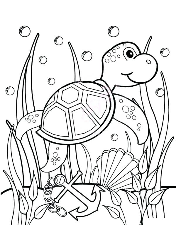 600x768 Coloring Page Turtle Under The Sea Coloring Pages Under The Sea
