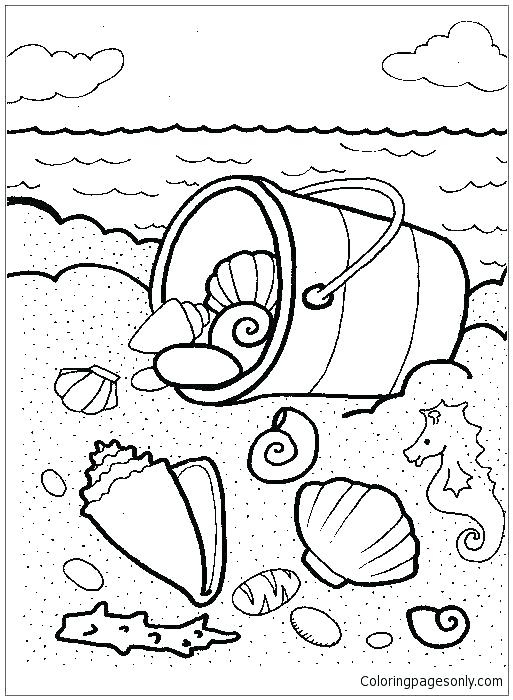 Coloring Pages Sea Shells At Getdrawings Free Download
