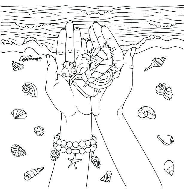 615x635 Seashell Coloring Pages Sea Shells Coloring Pages Sea Shells