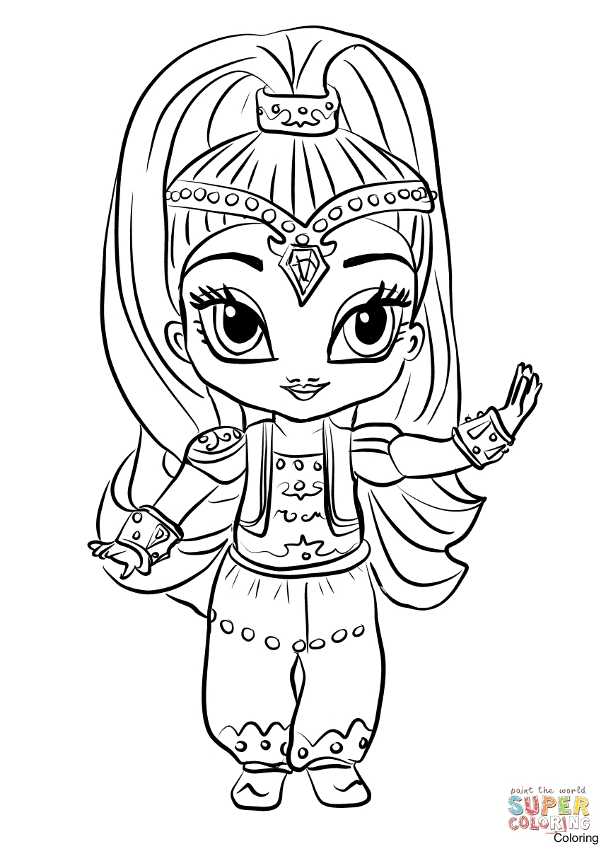 Coloring Pages Shimmer And Shine At Getdrawings Com Free For
