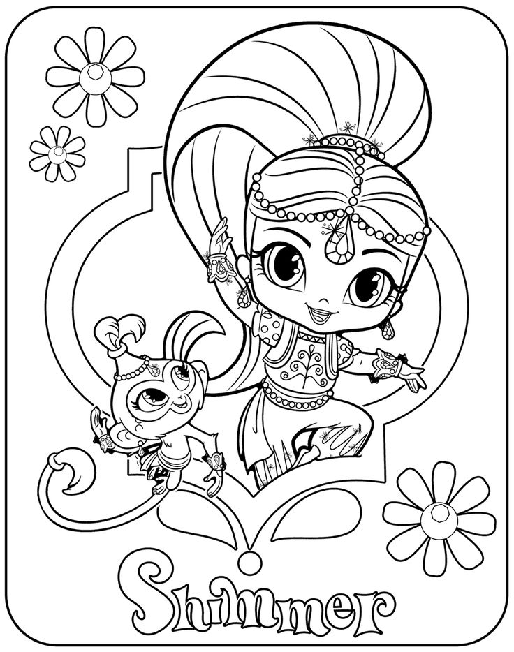 image relating to Shimmer and Shine Coloring Pages Printable referred to as Coloring Internet pages Shimmer And Glow at  No cost