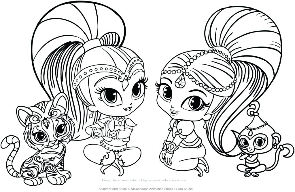 1024x668 Shimmer And Shine Coloring Plus Shimmer And Shine Coloring Pages