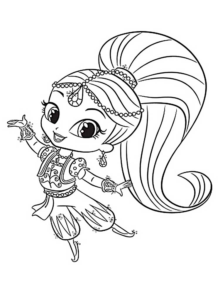 750x1000 Shimmer Shine Coloring Pages Shimmer And Shine Coloring Pages