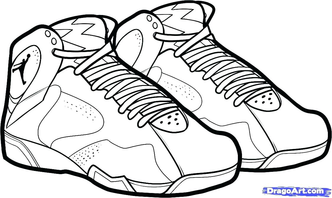 1125x673 Coloring Pages Of Shoes Printable Tennis Shoe Coloring Pages