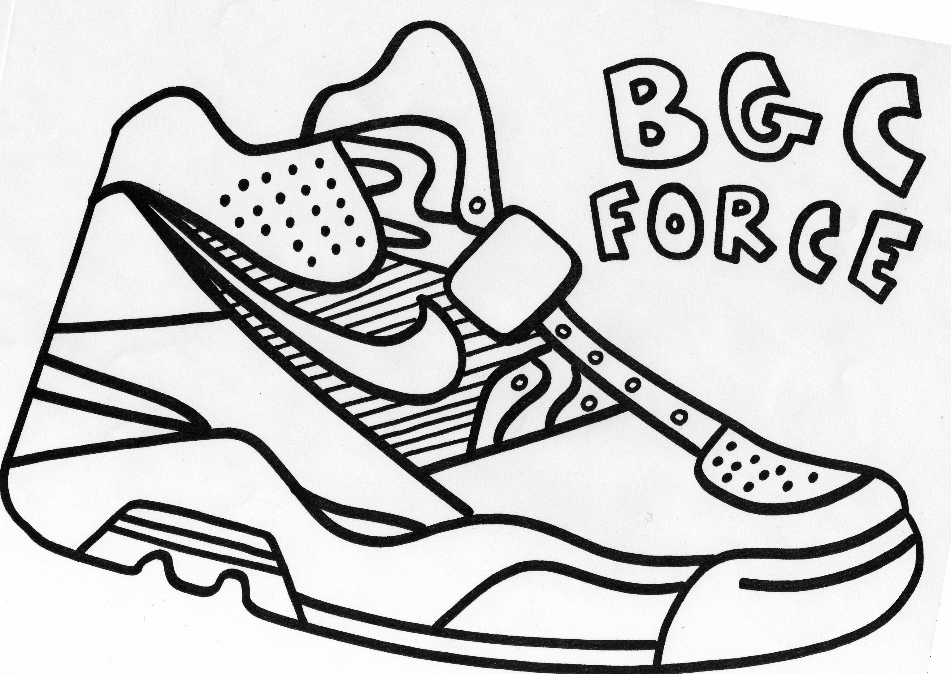 3072x2178 Best Printable Tennis Shoe Coloring Pages Free Shoes In Humorous