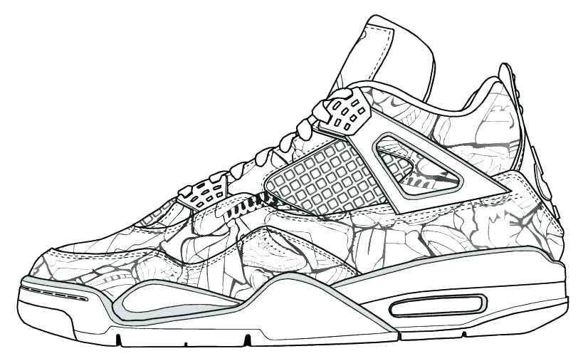 819x507 Coloring Pages Of Shoes Printable Shoe Coloring Page From Coloring