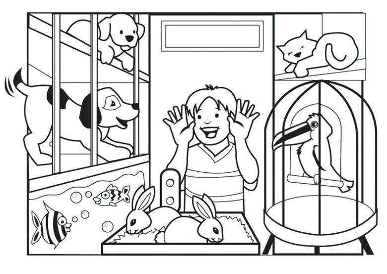 780x552 Pet Store Coloring Pages Pet Shop Coloring Pages Shop Colouring