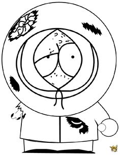 236x305 Free South Park Coloring Pages For Kids Kenny Card