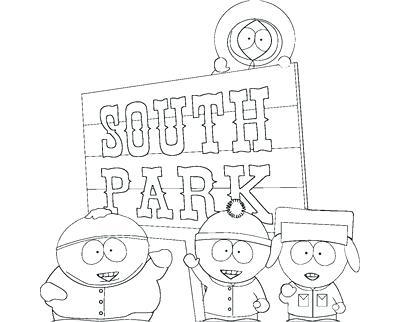 400x322 South Park Coloring Pages Coloring Trend Thumbnail Size South Park