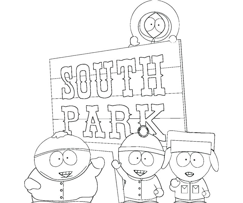 800x667 Free Printable South Park Coloring Pages