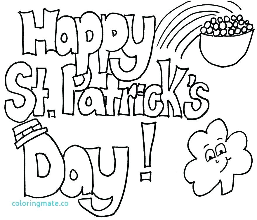 Coloring Pages St Patricks Day