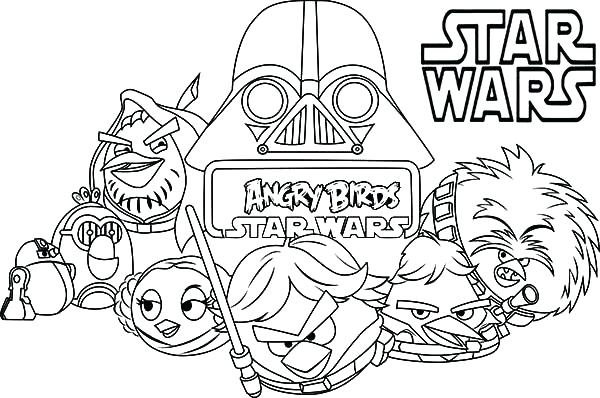 600x398 Star War Coloring Pages Star Wars Coloring Pages Angry Birds