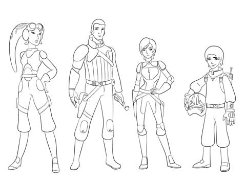 480x358 Star Wars Rebels Characters Coloring Page Printables