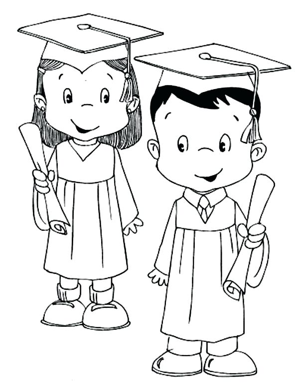 600x778 Student Coloring Page Model Student Graduation Coloring Pages