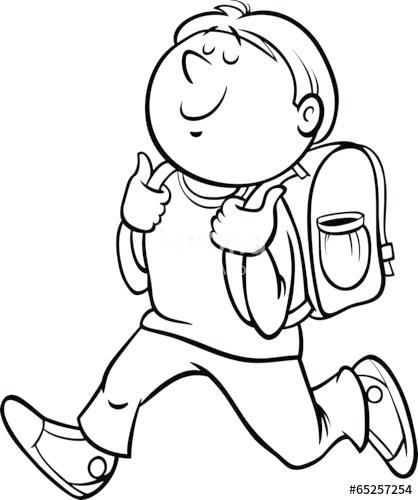 418x500 Student Coloring Page Student Coloring Pages Student Coloring