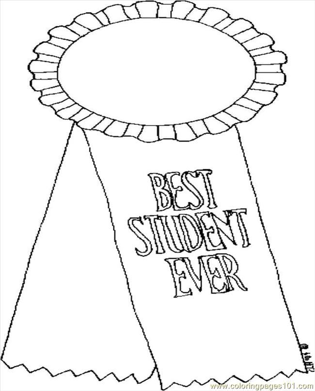 650x806 Best Student Ever Coloring Page